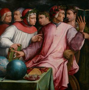 """Giorgio Vasari, """"Ritratto di sei poeti toscani"""", 1544.  Fonte: Wikimedia Commons"""