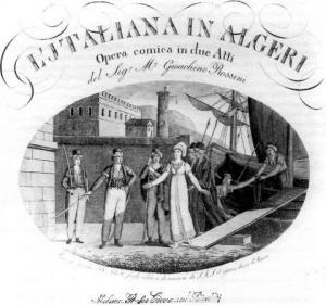 Gioachino Rossini, L'italiana in Algeri (1819). Fonte: ascolti.cz