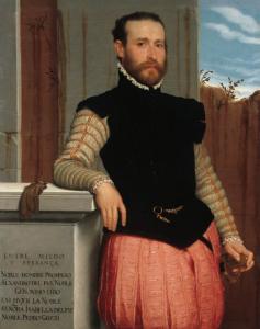 Giovanni Battista Moroni, Ritratto di Prospero Alessandri, 1580