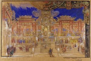 Turandot - Bozzetto di Galileo Chini