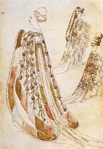 """Pisanello, """"Tra dame"""", 1433-1438 circa, Musée Bonnat, Bayonne."""