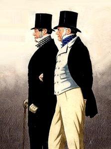 "Richard Dighton (1795-1880), ""Ritratto di Mr. George Payne e Lord Admiral Rous"""