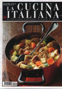 copertina della rivista la cucina italiana del gennaio 2009