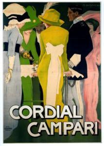 Marcello Dudovich, Manifesto pubblicitario per il Cordial Campari,1913.