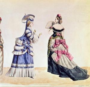 Due modelli di Charles Frederick Worth, 1870