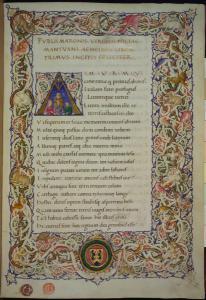 Manoscritto miniato del XV secolo contenente l'Eneide di Virgilio