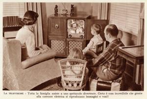 Famiglia alla TV