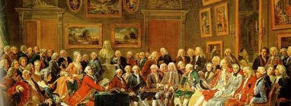 """Une soirée chez Madame Geoffrin"" di Charles Gabriel Lemonnier, 1812"
