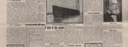 """""""Il Secolo"""" del 17 aprile 1912. Prima pagina."""