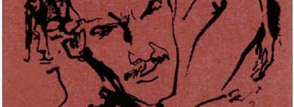 Paolo Conte in un bozzetto di Hugo Pratt