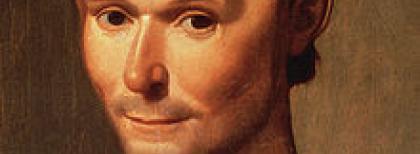 Santi di Tito (1536-1603), Niccolò Machiavelli (particolare), olio su tela.