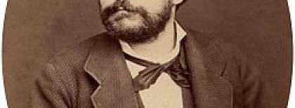 Carducci nel 1876. Foto di R. Borghi. Fonte: Archiginnasio