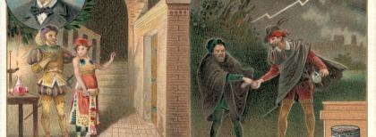 """Il """"Rigoletto"""" in una delle figurine Liebig dedicate a Giuseppe Verdi."""
