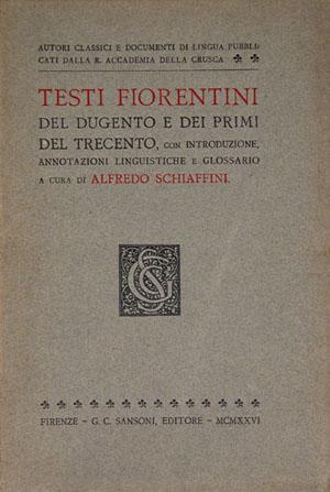 Autori classici e documenti di lingua