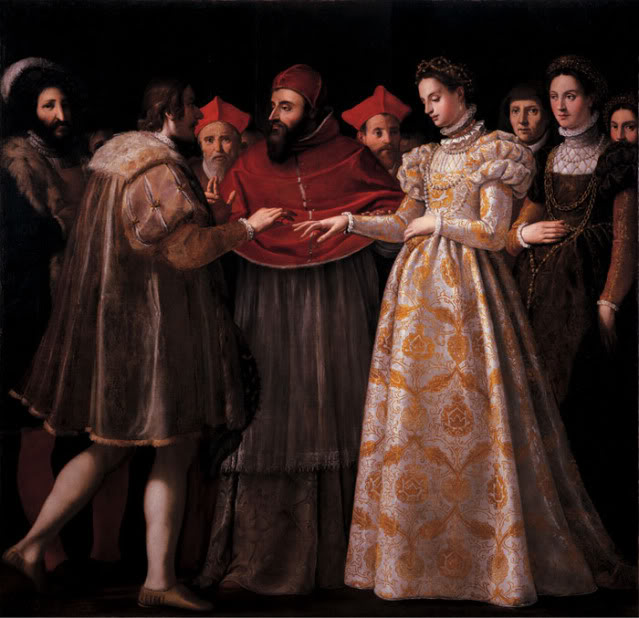 Matrimonio di Caterina de' Medici con Enrico II di Francia
