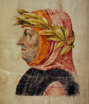 Ritratto di Petrarca - Manoscritto del XV secolo