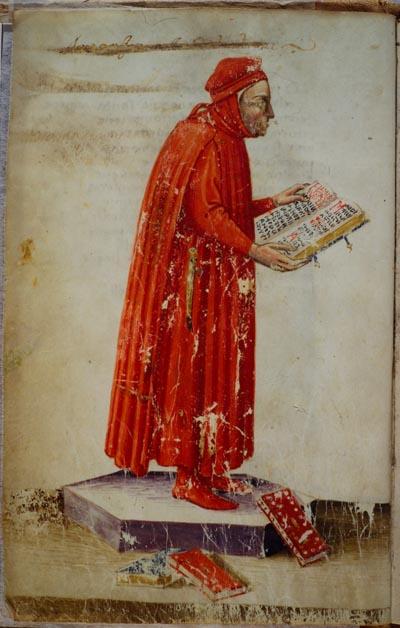 Raffigurazione di Boccaccio - Manoscritto del XV secolo