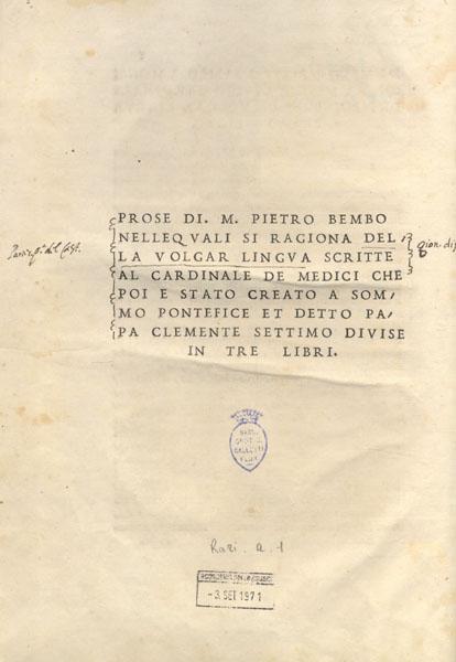 Pietro Bembo (III)