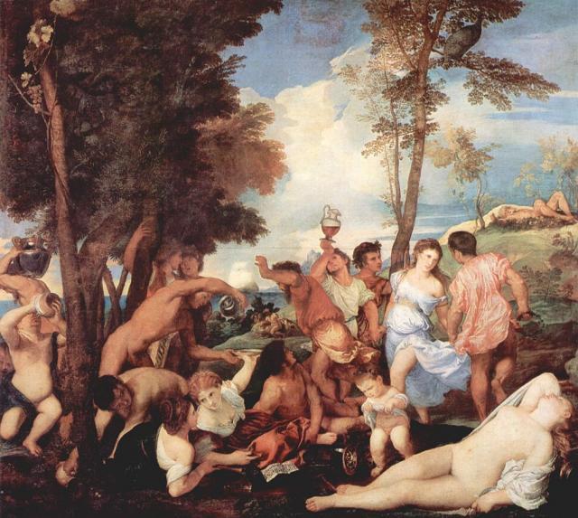 """Tiziano, """"Baccanale degli Andrii"""", 1523-26"""