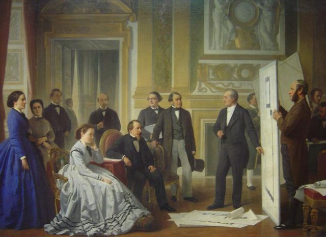 Napoleone III e Louis Visconti, 1865