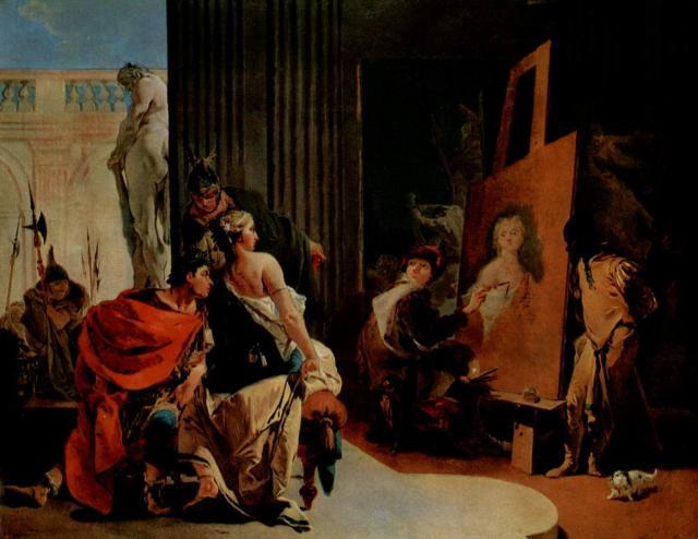 """""""Alessandro e Campaspe nello studio di Apelle"""", 1725-26"""