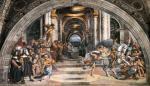 """Raffaello, """"Cacciata di Eliodoro dal tempio"""", 1511-12"""