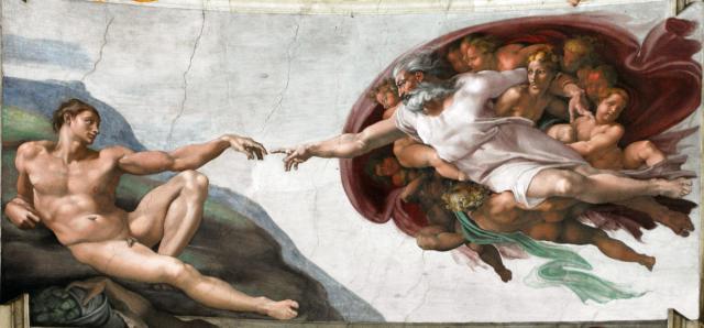 """""""Creazione di Adamo"""", Cappella Sistina, 1511"""