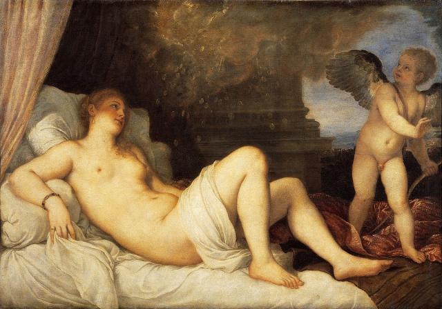 """Tiziano, """"Danae"""", 1545"""