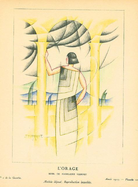 """""""L'orage"""" (1923), figurino di Thayaht per Madeleine Vionnet"""