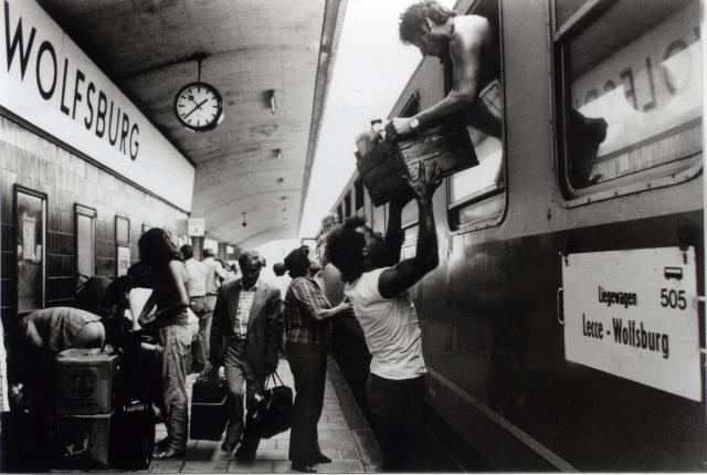 Stazione di Wolfsburg: il rientro dall'Italia