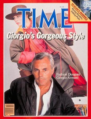 """Giorgio Armani in copertina sul """"Time"""", 1982"""
