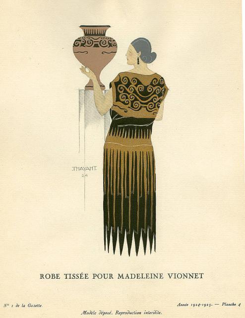 Figurino di Thayaht per Madeleine Vionnet, 1924