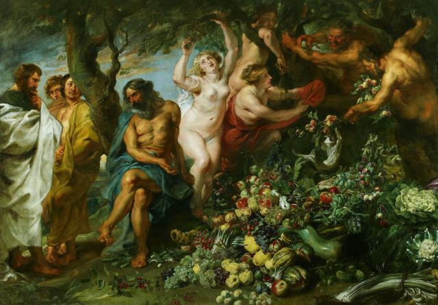 """Rubens e Snyders, """"Pitagora sostenitore del Vegetarianismo"""", XVII sec."""