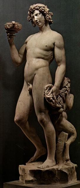 "Michelangelo, ""Bacco"", 1496-97"