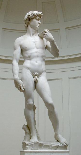 """Il """"David"""" di Michelangelo, 1501-04"""
