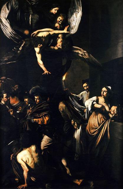 """Caravaggio, """"Sette opere di misericordia"""", 1607"""