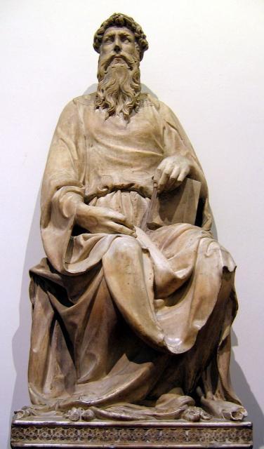 "Donatello, ""San Giovanni Evangelista"", 1408-1415"