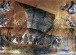 Giotto, mosaico della navicella, San Pietro, 1305-1313 circa