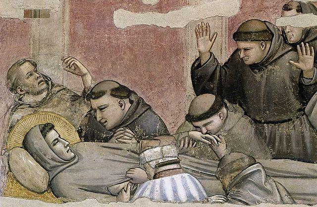 "Giotto, ""Esequie di S. Francesco"", Cappella Bardi, 1325 ca."