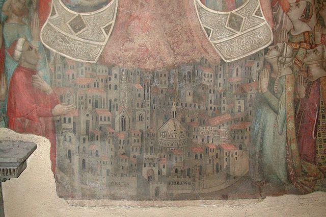 """Firenze nell'affresco """"La Madonna della Misericordia"""", 1342"""