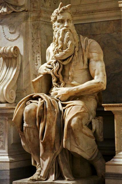 "Michelangelo, ""Mosè"", 1513-15"