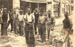 Selciatori di Graglia (Biella) a Chambéry, Francia, 1921