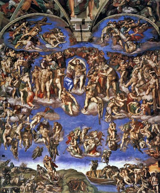 """Michelangelo, """"Giudizio Universale"""", 1536-41"""