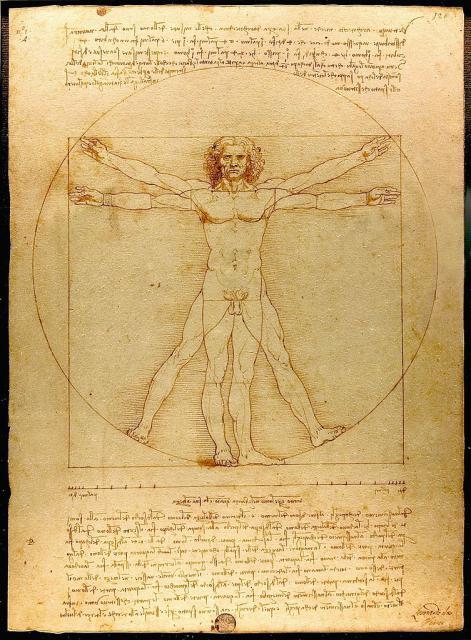 "Leonardo, ""Uomo vitruviano"", 1490 circa"