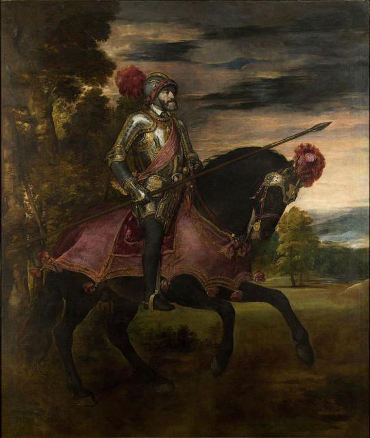 """Tiziano, """"Ritratto di Carlo V a cavallo"""", 1548"""