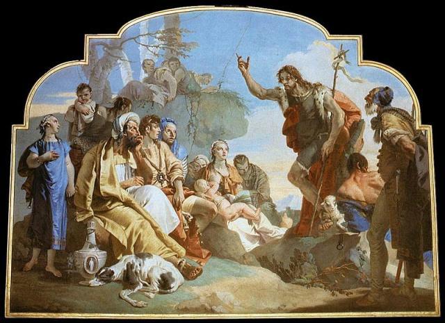 """Tiepolo, """"San Giovanni Battista predica alla folla"""", 1733"""