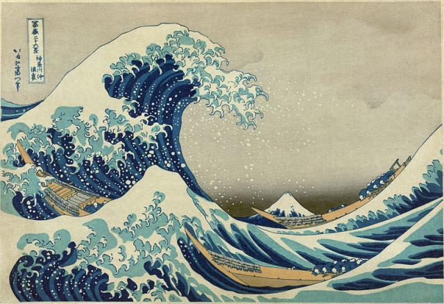"""K. Hokusai,"""" La grande onda di Kanagawa"""", 1829-32"""