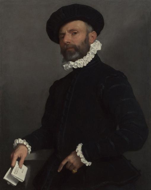 """G.B. Moroni, """"Ritratto di uomo con lettera"""" (L'Avvocato), 1570-75"""