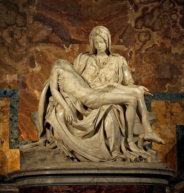 """La """"Pietà"""" di Michelangelo, 1497-99"""