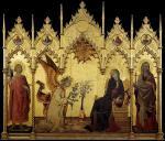 """Simone Martini e Lippo Memmi, """"Annunciazione"""", 1333"""